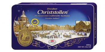 Dresdner Christstollen Geschenkdose (8 Dosen pro Ktn.)