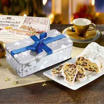 Butter-Mandel-Christstollen in der Dose